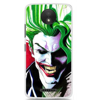 Snooky Printed Joker Mobile Back Cover For Motorola Moto C Plus - Multi