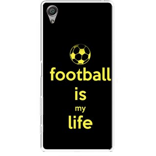 Snooky Printed Football Is Life Mobile Back Cover For Sony Xperia X - Multicolour
