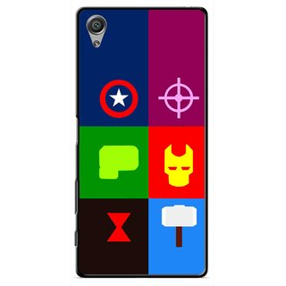 Snooky Printed Multi Heros Mobile Back Cover For Sony Xperia X - Multi