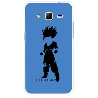 Snooky Printed Son Gohan Mobile Back Cover For Samsung Galaxy Core Prime - Blue