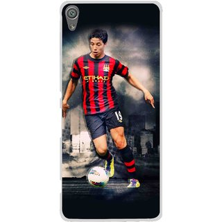 Snooky Printed Football Mania Mobile Back Cover For Sony Xperia XA1 - Multi
