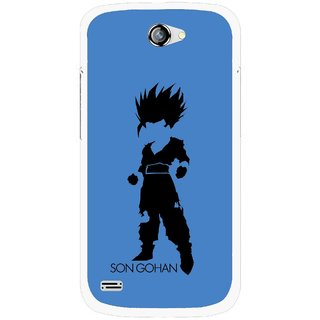 Snooky Printed Son Gohan Mobile Back Cover For Gionee Pioneer P3 - Blue