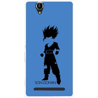 Snooky Printed Son Gohan Mobile Back Cover For Sony Xperia T2 Ultra - Blue