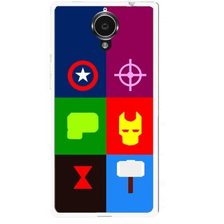 Snooky Printed Multi Heros Mobile Back Cover For Gionee Elife E7 - Multi