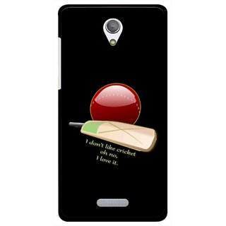 Snooky Printed Cricket Lover Mobile Back Cover For Gionee Marathon M4 - Black