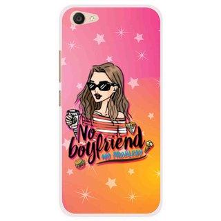 Snooky Printed No Boyfriend Mobile Back Cover For Vivo V5 Plus - Multi
