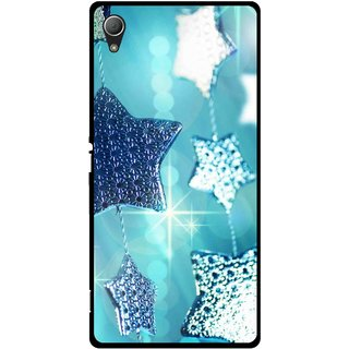 Snooky Printed Sparkling Stars Mobile Back Cover For Sony Xperia Z3 - Multi