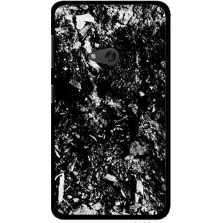 Snooky Printed Rocky Mobile Back Cover For Nokia Lumia 625 - Black