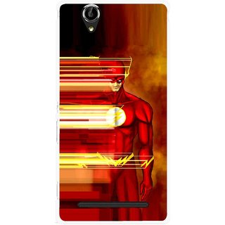 Snooky Printed Electric Man Mobile Back Cover For Sony Xperia T2 Ultra - Red