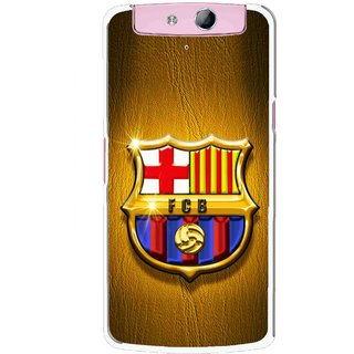 Snooky Printed FootBall Club Mobile Back Cover For Oppo N1 Mini - Multicolour