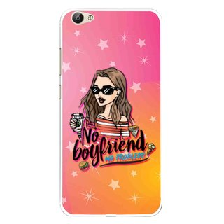 Snooky Printed No Boyfriend Mobile Back Cover For Vivo Y55 - Multi