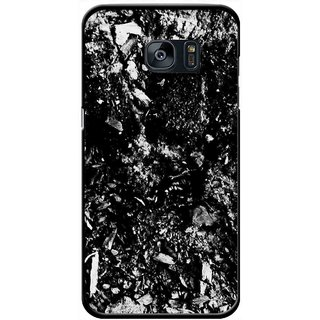 Snooky Printed Rocky Mobile Back Cover For Samsung Galaxy S7 - Black