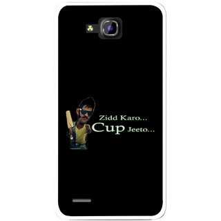 Snooky Printed World cup Jeeto Mobile Back Cover For Huawei Honor 3C - Black