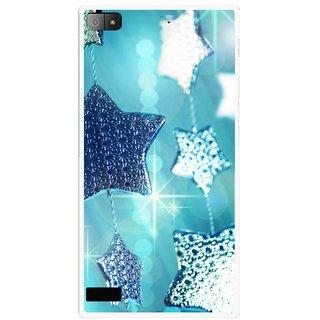 Snooky Printed Sparkling Stars Mobile Back Cover For Blackberry Z3 - Multi