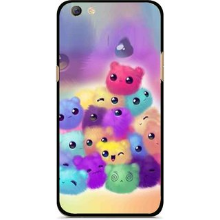 Snooky Printed Cutipies Mobile Back Cover For Oppo F3 plus - Multi