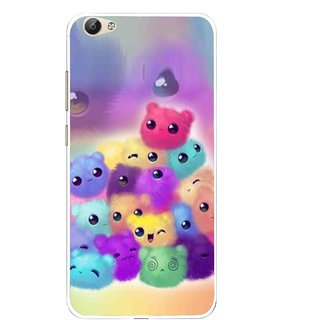 Snooky Printed Cutipies Mobile Back Cover For Vivo Y55 - Multi
