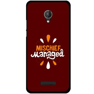 Snooky Printed Mischief Mobile Back Cover For Micromax Canvas Spark Q380 - Brown