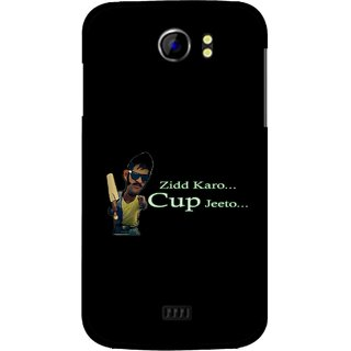 Snooky Printed World cup Jeeto Mobile Back Cover For Micromax Canvas 2 A110 - Black