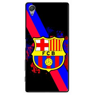 Snooky Printed Football Club Mobile Back Cover For Sony Xperia X - Black
