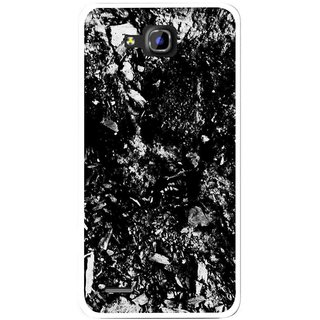 Snooky Printed Rocky Mobile Back Cover For Huawei Honor 3C - Black
