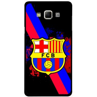 Snooky Printed Football Club Mobile Back Cover For Samsung Galaxy E5 - Black