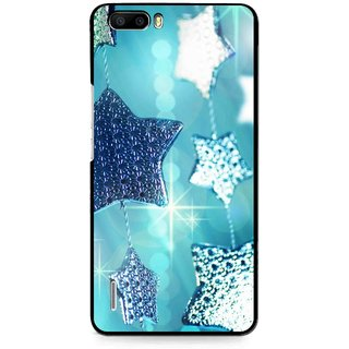 Snooky Printed Sparkling Stars Mobile Back Cover For Huawei Honor 6 Plus - Multi