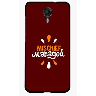 Snooky Printed Mischief Mobile Back Cover For Micromax Canvas Xpress 2 E313 - Brown