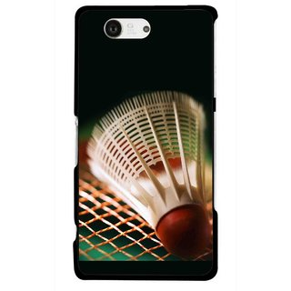 Snooky Printed Badminton Mobile Back Cover For Sony Xperia Z3 Compact - Multicolour