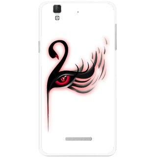 Snooky Printed Eye Art Mobile Back Cover For Micromax Yu Yureka Plus - Multi