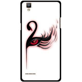 Snooky Printed Eye Art Mobile Back Cover For Oppo F1 - Multi