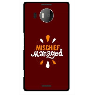 Snooky Printed Mischief Mobile Back Cover For Microsoft Lumia 950 XL - Brown