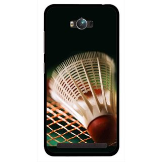Snooky Printed Badminton Mobile Back Cover For Asus Zenfone Max - Multicolour