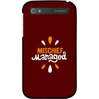 Snooky Printed Mischief Mobile Back Cover For Blackberry Classic - Brown