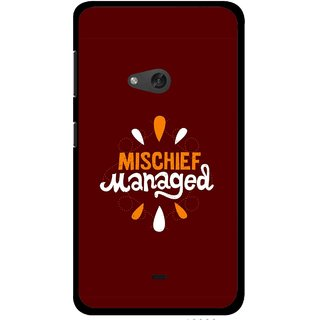 Snooky Printed Mischief Mobile Back Cover For Nokia Lumia 625 - Brown
