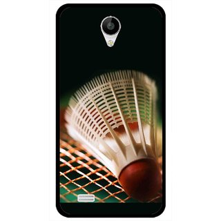 Snooky Printed Badminton Mobile Back Cover For Vivo Y22 - Multicolour