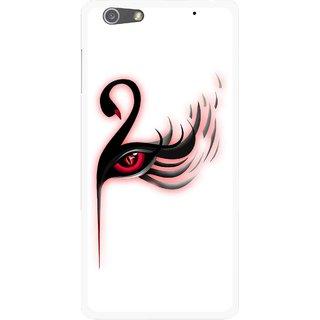 Snooky Printed Eye Art Mobile Back Cover For Oppo R1 - Multi