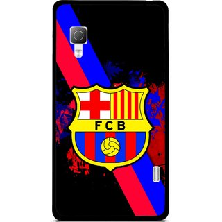 Snooky Printed Football Club Mobile Back Cover For Lg Optimus L5II E455 - Black