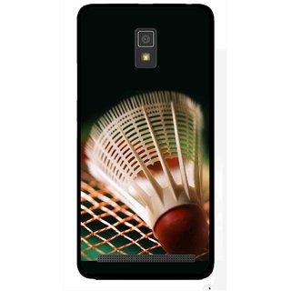 Snooky Printed Badminton Mobile Back Cover For Lenovo A6600 - Multicolour