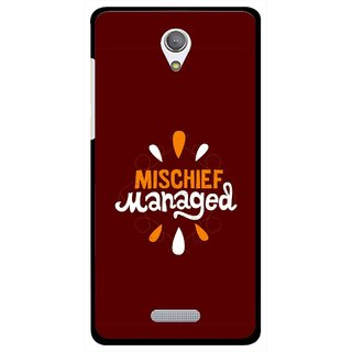Snooky Printed Mischief Mobile Back Cover For Gionee Marathon M4 - Brown