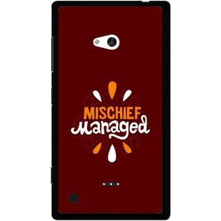 Snooky Printed Mischief Mobile Back Cover For Nokia Lumia 720 - Brown
