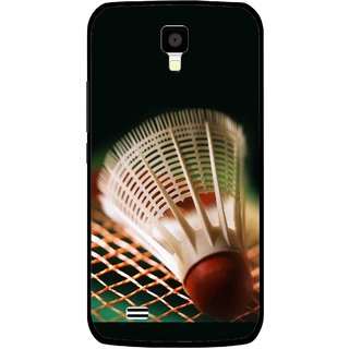 Snooky Printed Badminton Mobile Back Cover For Gionee Pioneer P2S - Multicolour