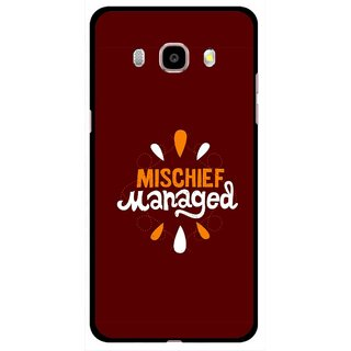Snooky Printed Mischief Mobile Back Cover For Samsung Galaxy J5 (2017) - Brown