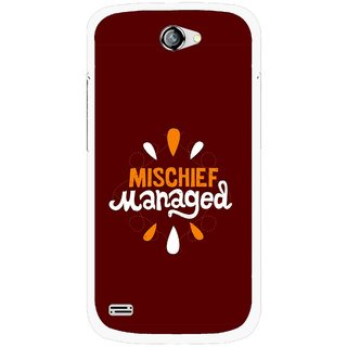 Snooky Printed Mischief Mobile Back Cover For Gionee Pioneer P3 - Brown