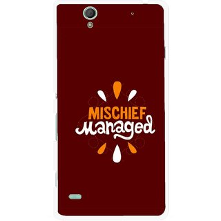 Snooky Printed Mischief Mobile Back Cover For Sony Xperia C4 - Brown
