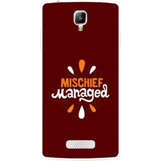 Snooky Printed Mischief Mobile Back Cover For Oppo Neo 3 R831k - Brown