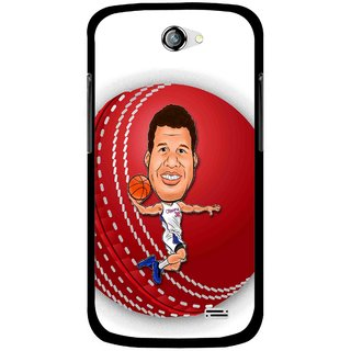 Snooky Printed Cricket Club Mobile Back Cover For Gionee Pioneer P2 - White