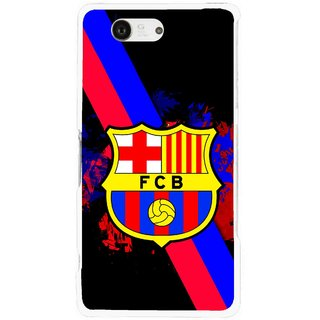 Snooky Printed Football Club Mobile Back Cover For Sony Xperia Z3 Compact - Black