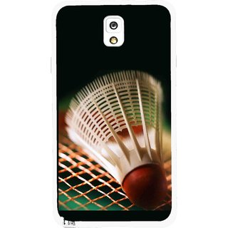 Snooky Printed Badminton Mobile Back Cover For Samsung Galaxy Note 3 - Multicolour