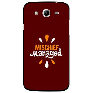 Snooky Printed Mischief Mobile Back Cover For Samsung Galaxy Mega 5.8 - Brown