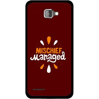 Snooky Printed Mischief Mobile Back Cover For Micromax Canvas Mad A94 - Brown